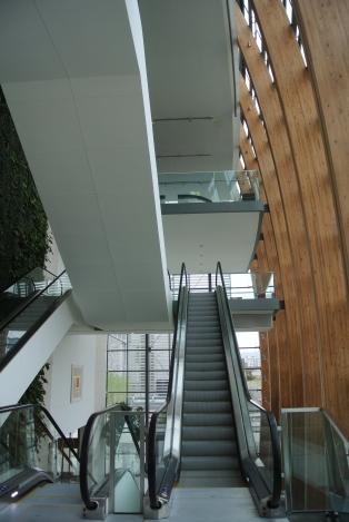 Gibson Hotel, Dublin. Escalator