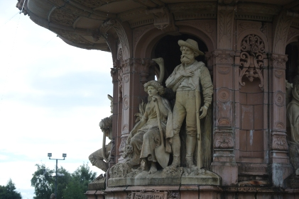 Doulton Fountain, detail, Glasgow Green