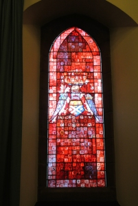 Stained glass by John Clark: Barony