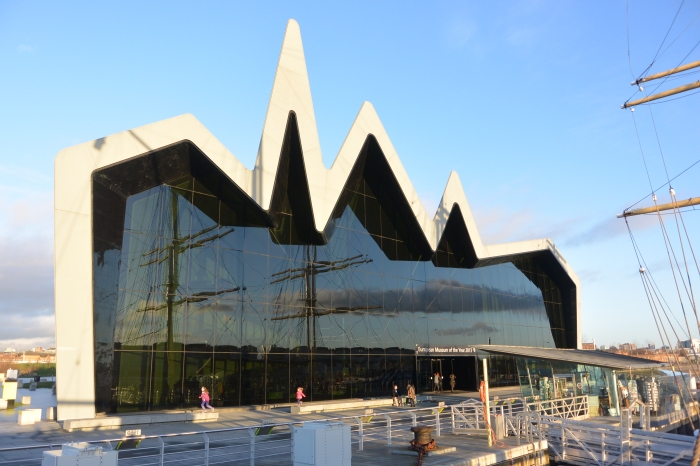 Glenlee reflected in the Riverside Museum