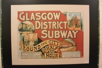 Old Glasgow Subway poster