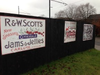 Old adverts at Summerlee