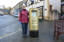 Had to have my picture taken with the postbox!