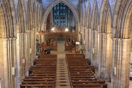 The nave from above