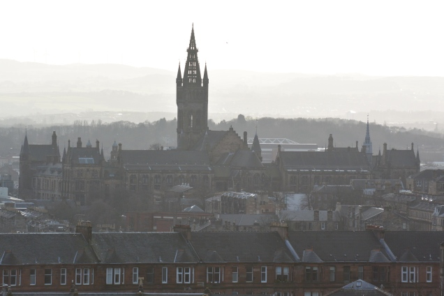 Glasgow University from Ruchill Park