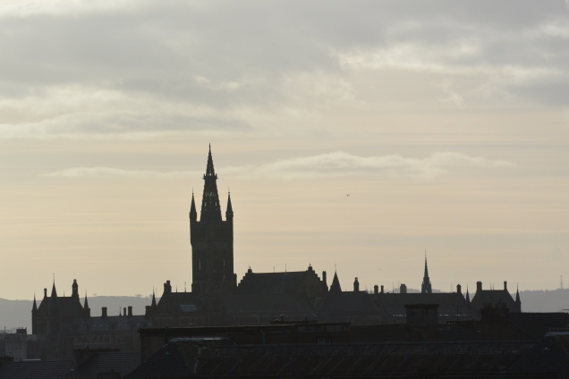 Glasgow University from the canal