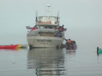 Prince William Sound water taxi to Columbia Glacier