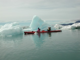 Prince William Sound Sea kayaking at Columbia Glacier