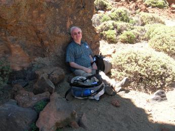 Seeking shade on Mount Teide