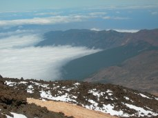 Mount Teide cable car view
