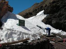 Mount Teide snow