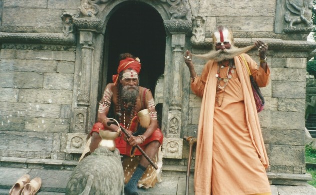 Holy men at Pashupatinath