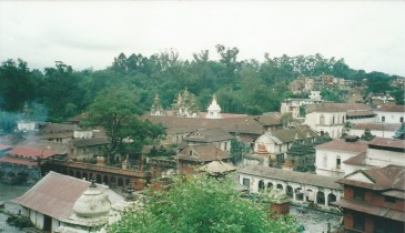 Pashupatinath - ghats at bottom left