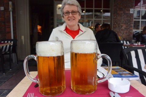 Large beers at 't Voutje