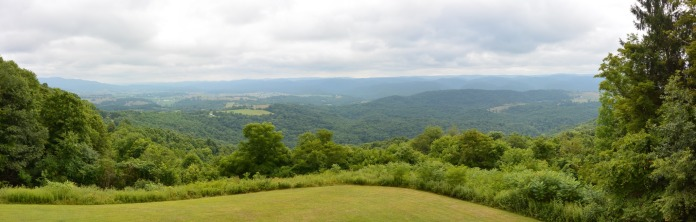 View from Droop Mountain Lookout Tower