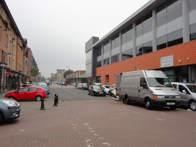 Crown Street. The Library is in the building on the right