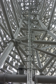 Inside the sculpture