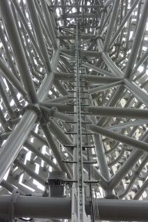 Inside the sculpture