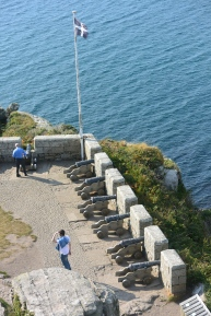 Gun Batteries from above