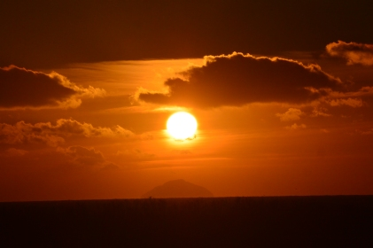 Sunset over Ailsa Craig