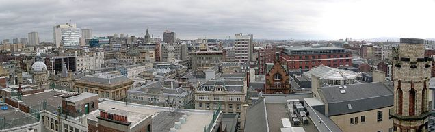 Glasgow city centre panorama from Lighthouse tower by Tomek Augustyn from Glasgow, UK (let Glasgow flourish) CC BY-SA 2.0 (http://creativecommons.org/licenses/by-sa/2.0), via Wikimedia Commons