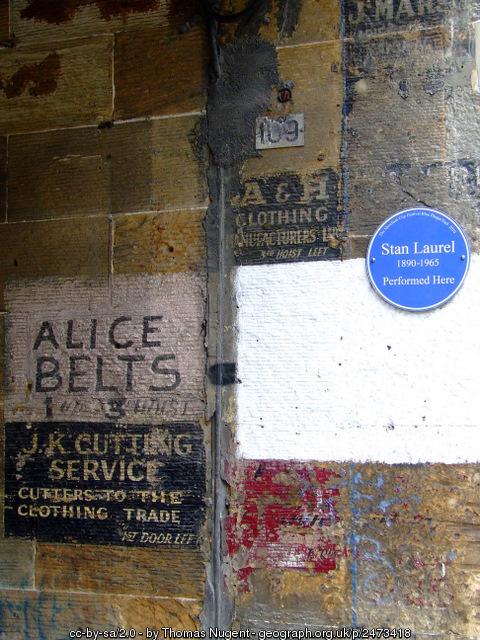 Panopticon plaque for Stan Laurel