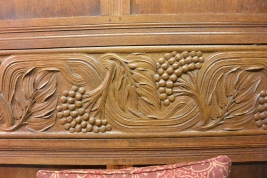 Carving on bench