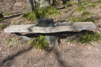 Inscribed bench