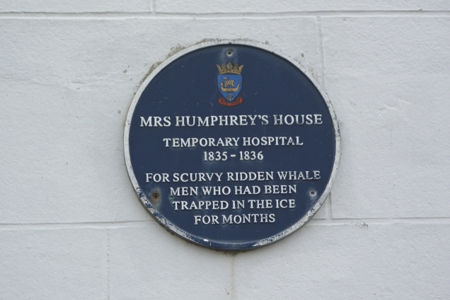 Plaque in Stromness