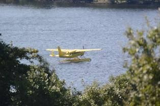 Float plane on Loch Lomond