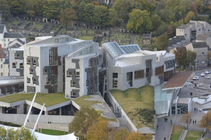 Scottish Parliament from Salisbury Crags