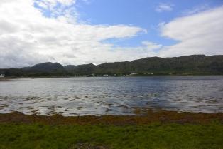 Loch Ewe from walled garden