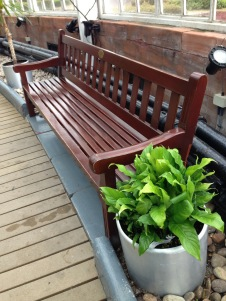 Winter Gardens bench