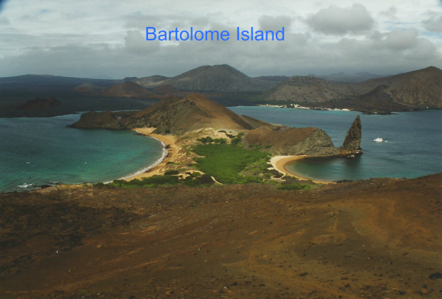Sullivan Bay and Pinnacle Rock, Bartolome Island