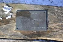 John and Rene's bench