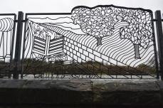 Railings designed by Catherine Rozdoba-Hallows