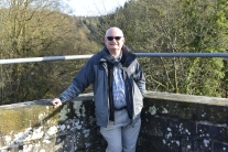 John on the Clydesholm Bridge