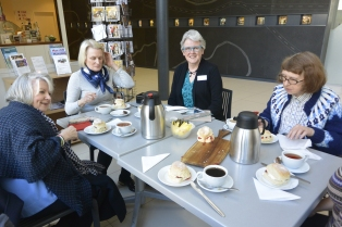 Tea party at Maryhill Halls