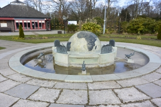 David Livingstone Centre fountain