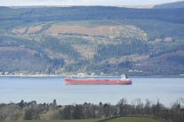 Red ship on Clyde