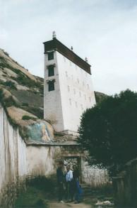 Sera Monastery thangka wall