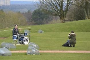 Strange place for drum practice!