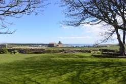 Lindisfarne Castle from the Priory