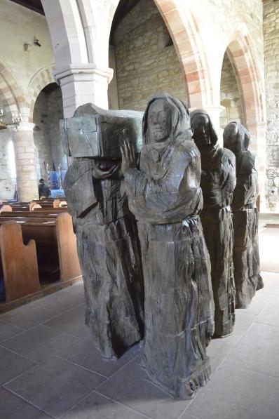 Monks carrying Cuthbert's body