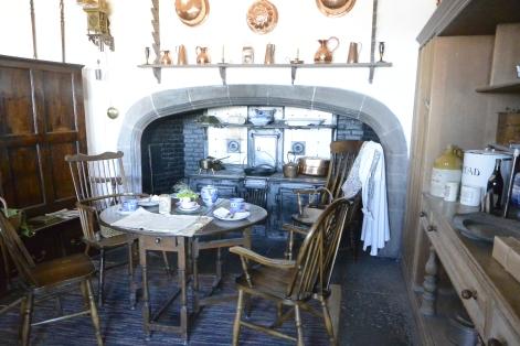 Lindisfarne Castle kitchen