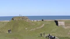 Lindisfarne below the castle