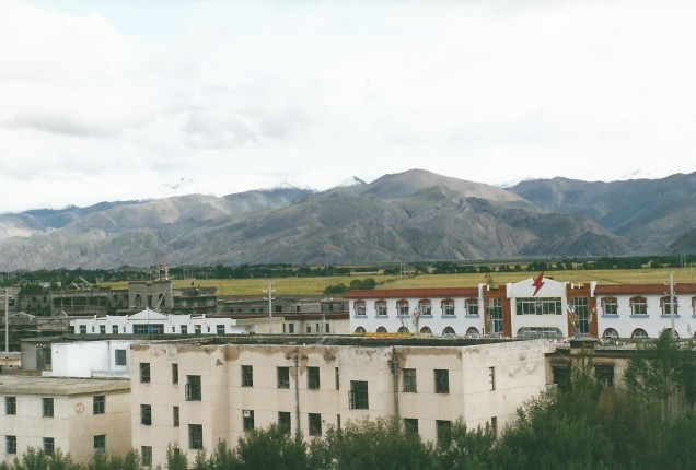 Gyantse from hotel roof