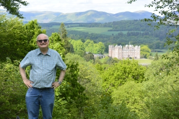 Drumlanrig Castle from viewpoint