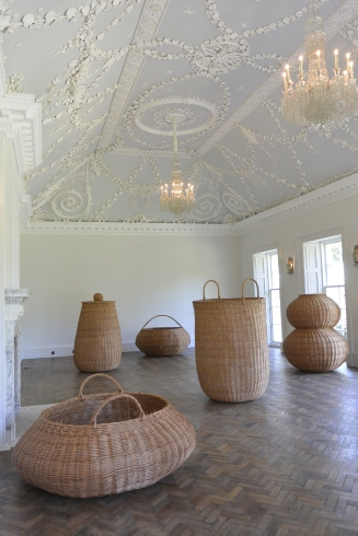 Ballroom with baskets by Ditte Gantriis
