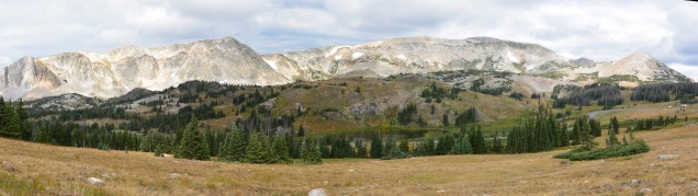 Medicine Bow Peak and Bellamy Lake